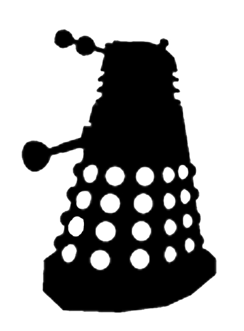 Clip Art Dr Who Clipart doodlecraft doctor who stencil silhouette outline clipart mania saturday august 10 2013