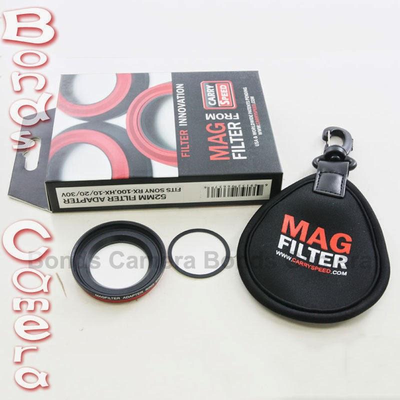 MagFilter 52mm Threaded Filter Adapter Ring for Sony DSC RX100 HX9V HX20V HX30V