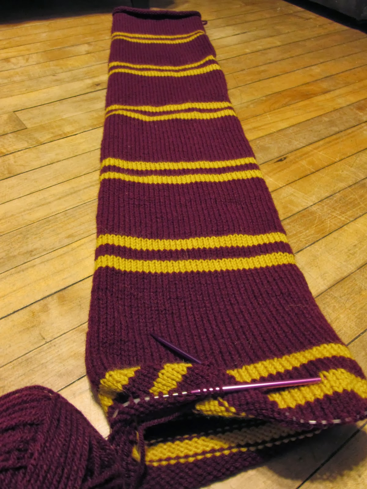 Knit Harry Potter Scarf Pattern : Not Your Grandmother`s Knitting: Harry Potter Scarf