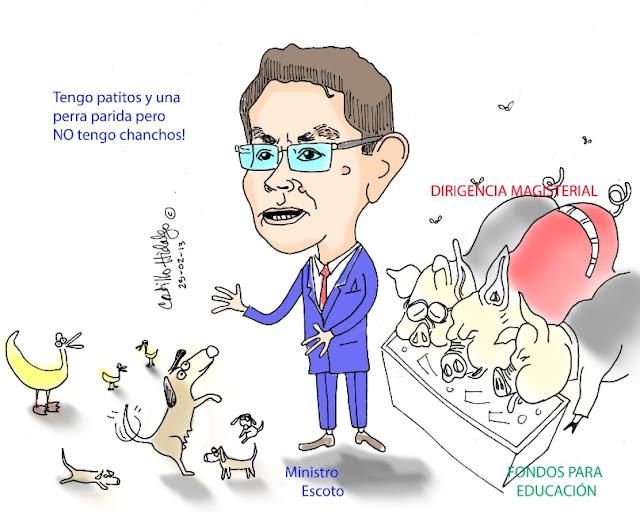 Caricatura del conflicto magisterial en Honduras
