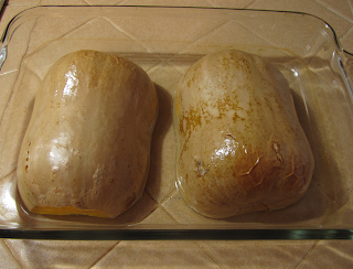 Baking Pan with Baked Butternut