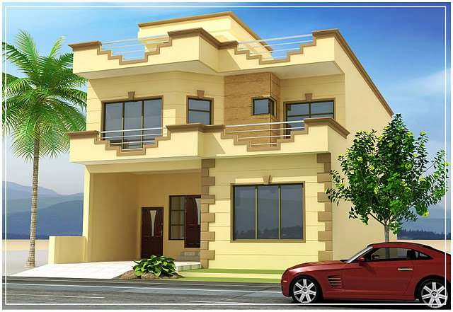 Front Elevation Of Beautiful Building : D front elevation pakistan beautiful