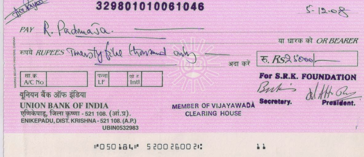 ac payee cheque