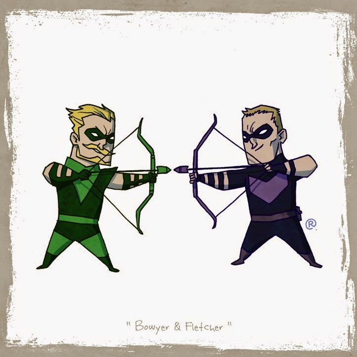 Arrow and Hawkeye aiming for each other