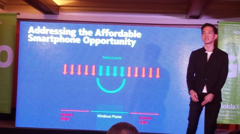Gary Chan, Nokia Head of Marketing for Pan Asia addressed the need for affordable smartphone for Filipinos