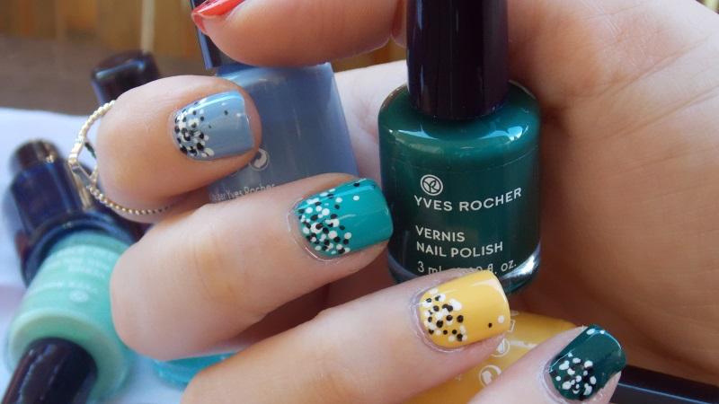 manucure, yves rocher, nail art, coloré