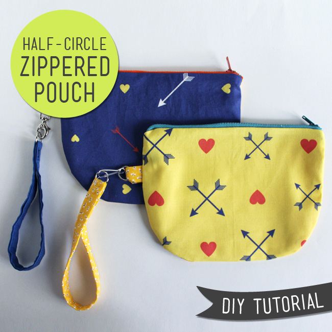 sewing projects half circle zipper pouch