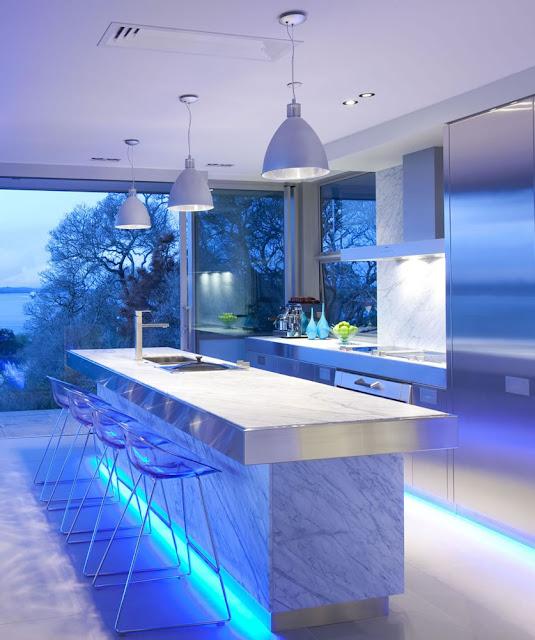 Kitchen Decorating Ideas Blue Color Paint
