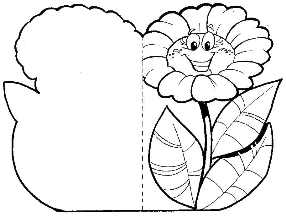 Lindas Tarjetas De Flores Para Imprimir Y Pintar Recopiladas De La Web