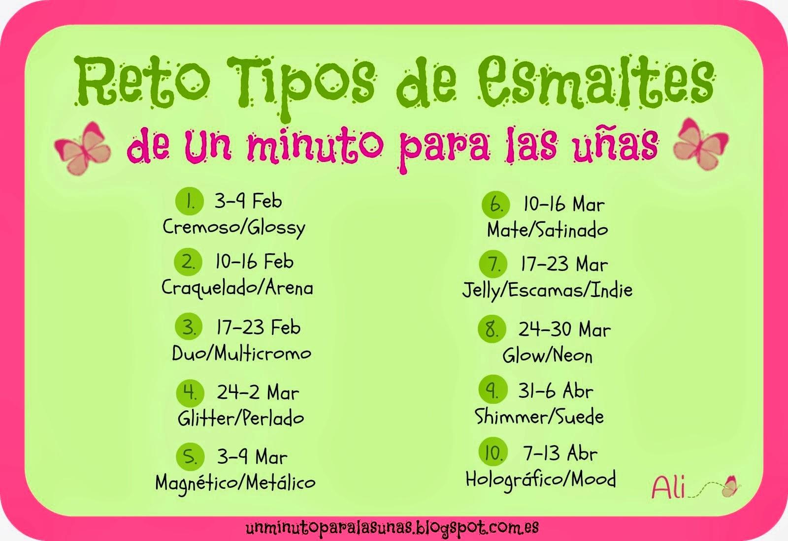 Little Fairy: Uñas: #RetoTiposdeEsmaltes1minuto 1. Cremoso/Glossy