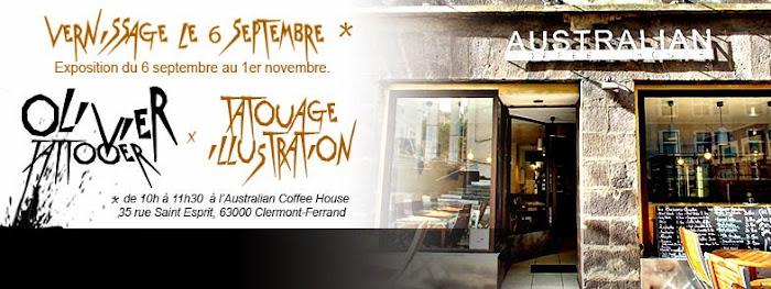 Olivier poinsignon exposition à l'Australian coffee house de clermont-ferrand - septembre 2014