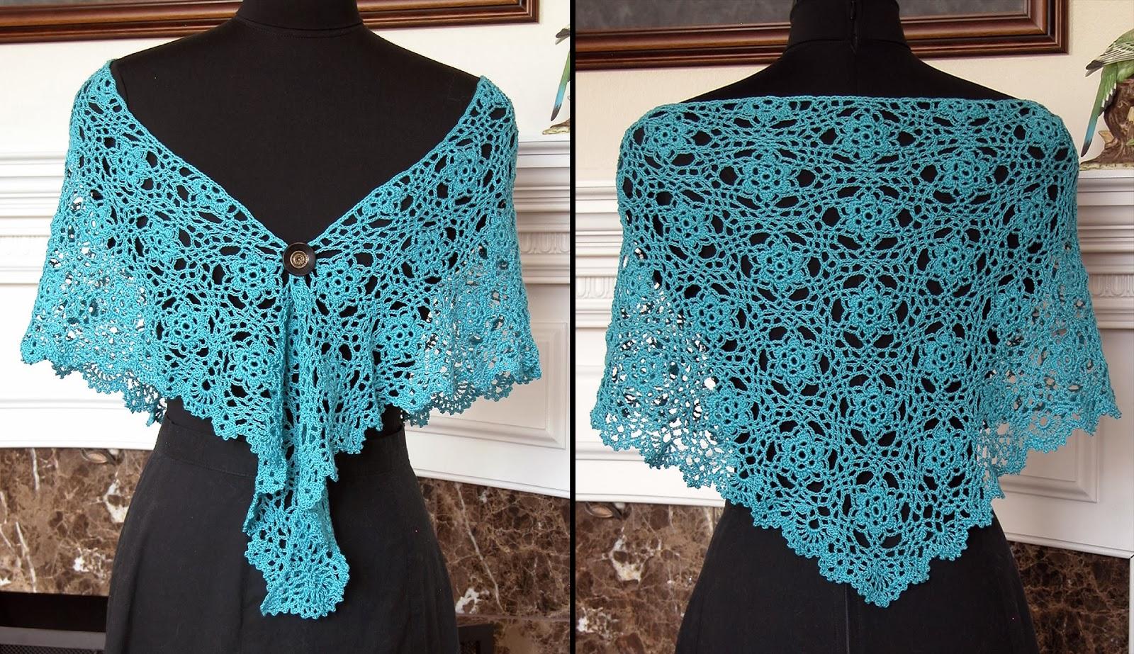 Old Fashioned Evening Shawl Crochet Pattern Photo - Sewing Pattern ...
