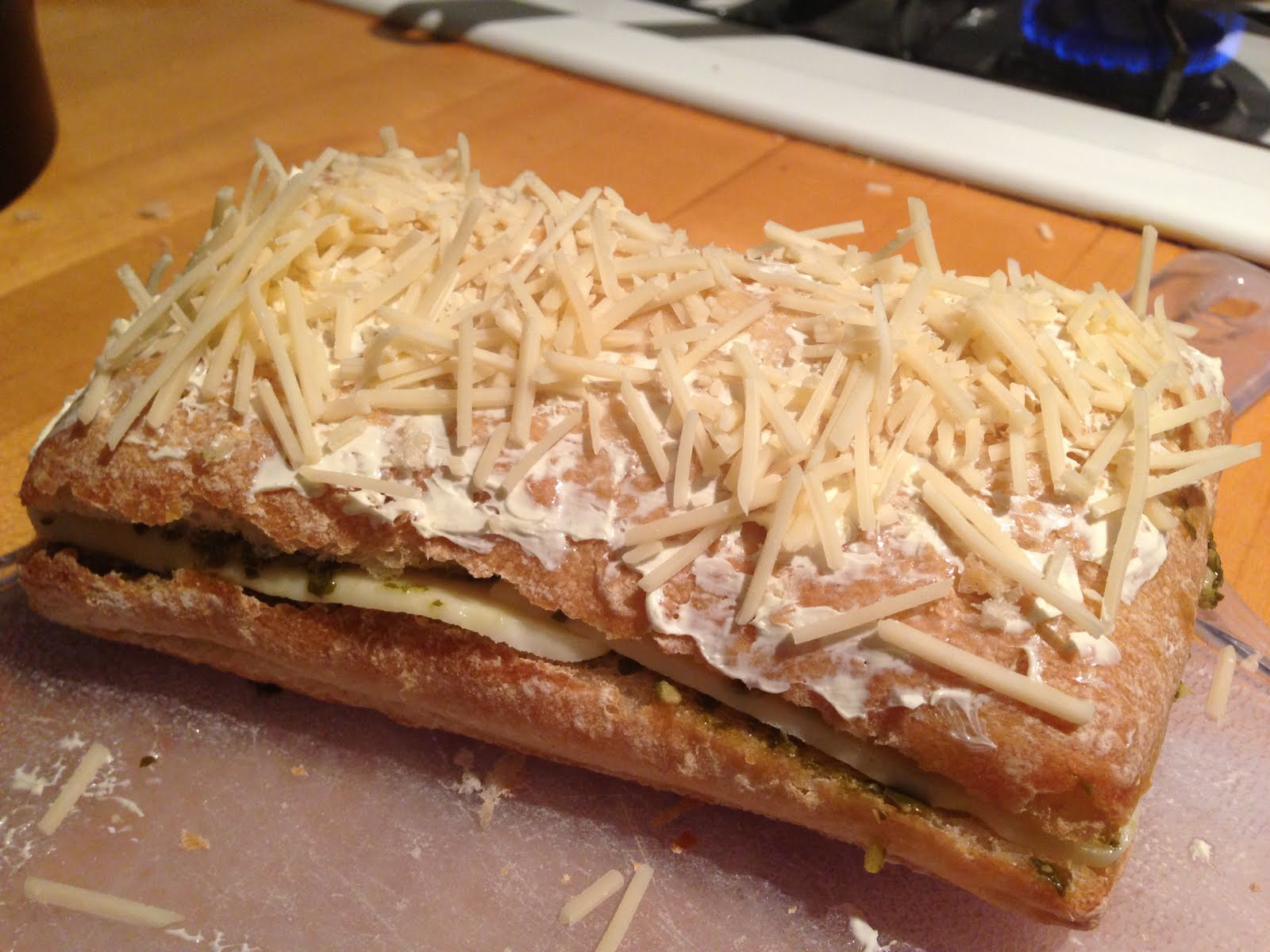 Look, I'm a Cook!: Parmesan Crusted Pesto Grilled Cheese Sandwich