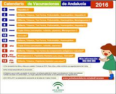 CALENDARIO DE VACUNACIÓN ANDALUCIA