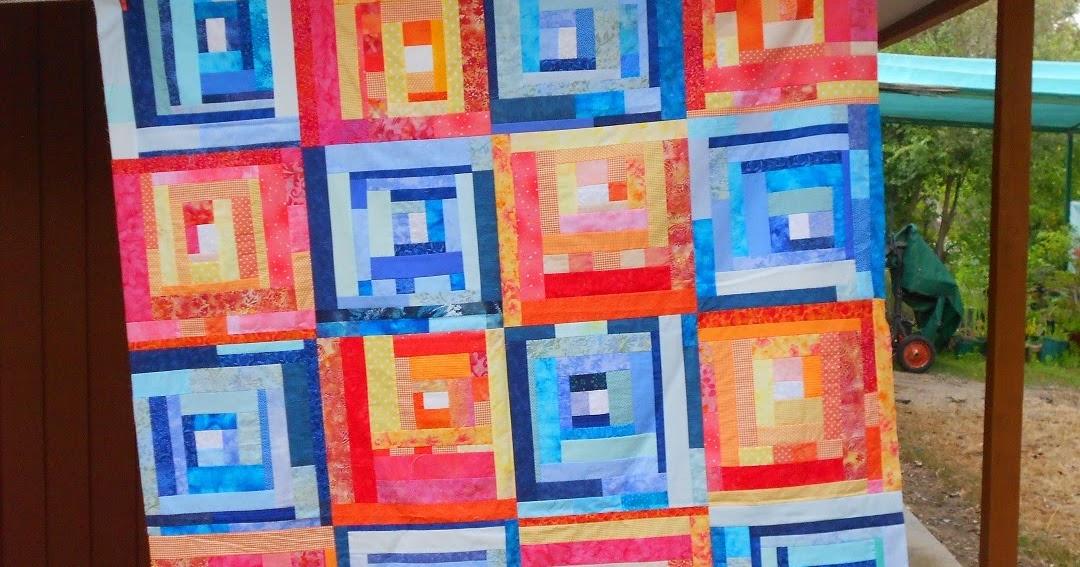 Judi Quilts: Orange and Blue Slab Quilt