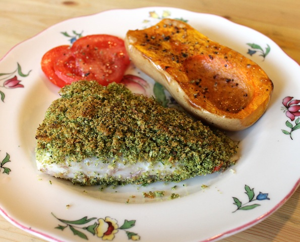 Food lust people love lemon and cilantro crusted white fish for food lust people love lemon and cilantro crusted white fish for random recipe challenge forumfinder Image collections
