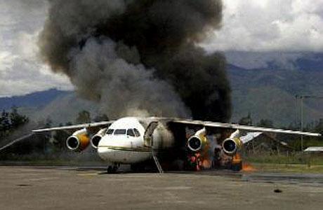 Nusantara Air Charter BAe-146 Terbakar di Wamena