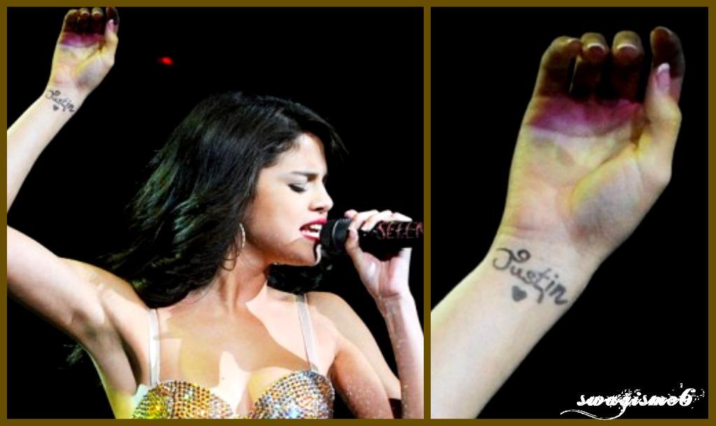 Swagisme6 Selena Gomez Gets Justin Bieber S Name Tattooed On Her Wrist