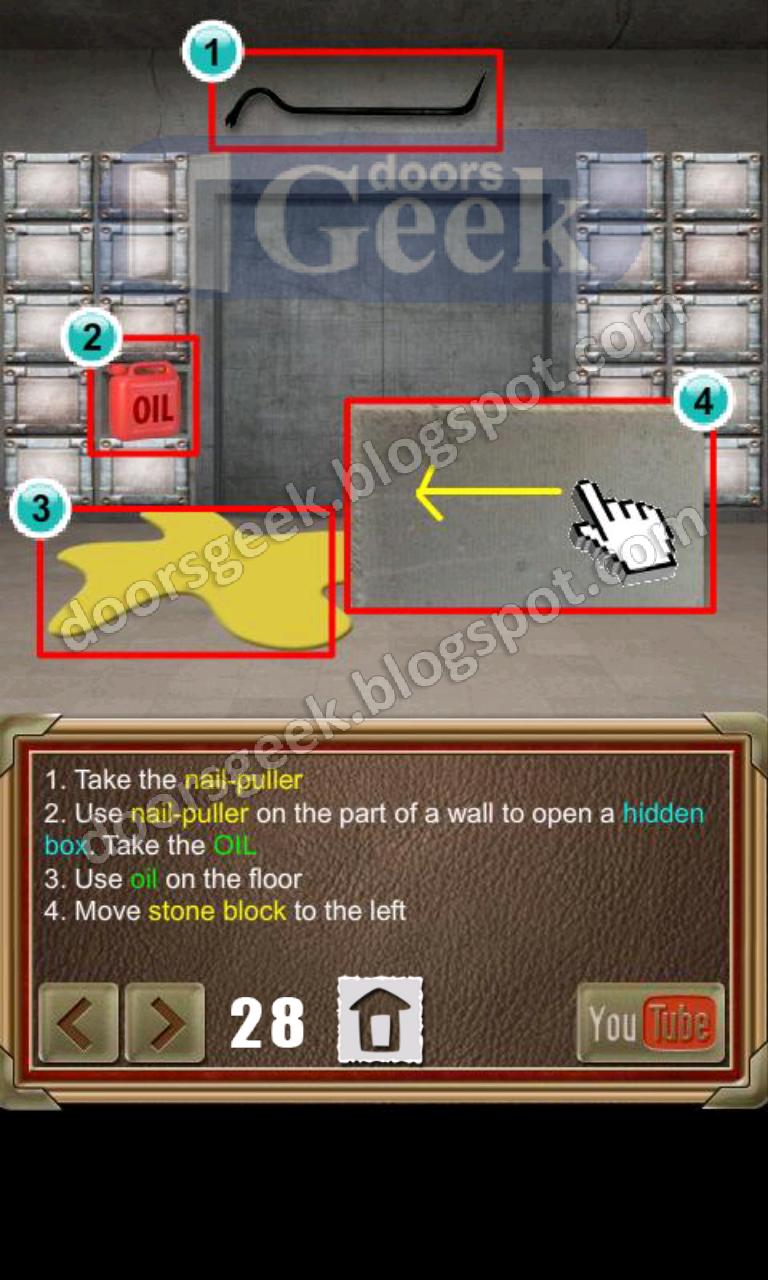 100 doors of revenge level 28 doors geek for 100 door 28