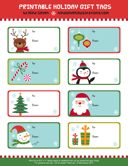 Holiday Roundup: Free Printable Gift Tags! | Shiny Happy World