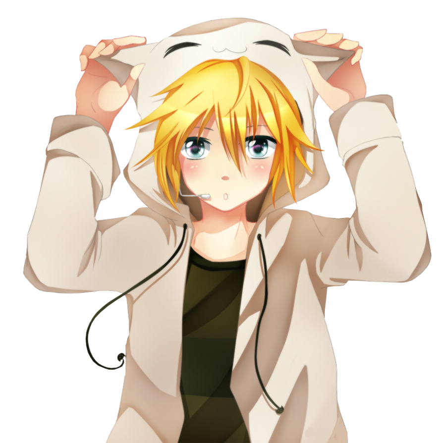 Anime boy with blonde hair