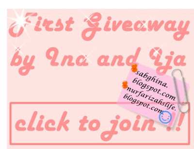 First Giveaway by Ina and Ija