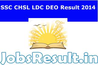 SSC CHSL LDC DEO Result 2015