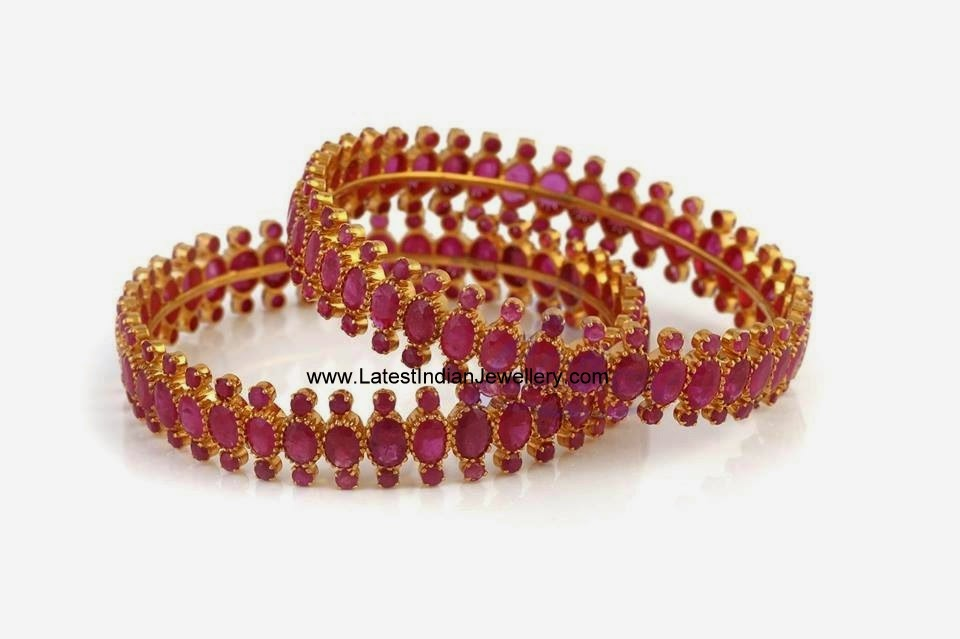 Indian Gold Ruby Bangles