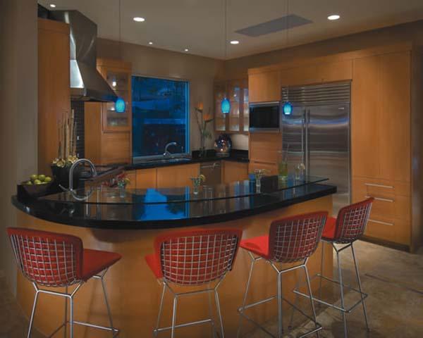 Kitchen breakfast bar ideas the kitchen design for Modelos de mesones de cocina