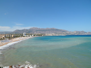 The beach at Albir and coast round to Altea in Spain