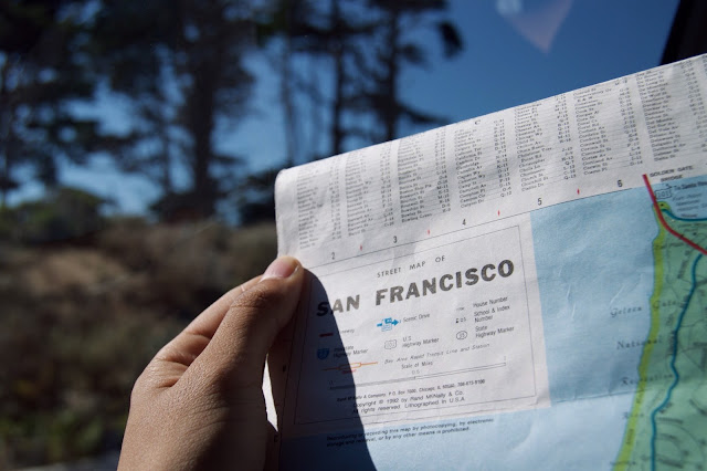 San Franscisco Map in sunshine