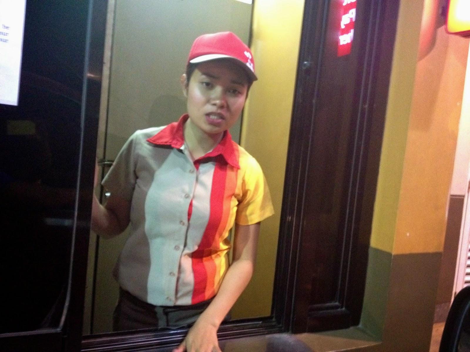 Jollibee Cebu order taker