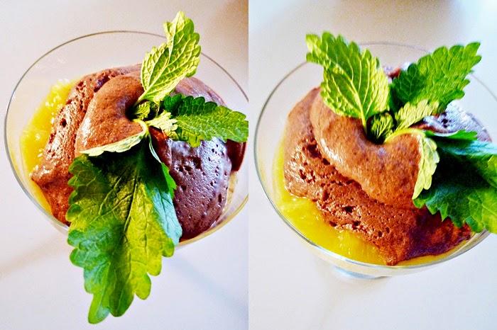Schokoladencreme mit Orangensalat nach Sarah Wiener