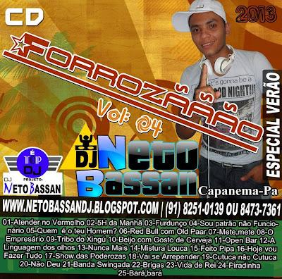 CD FORROZÃO VOL-04 ESPECIAL VERÃO 2013 BY DJ NETO BASSAN