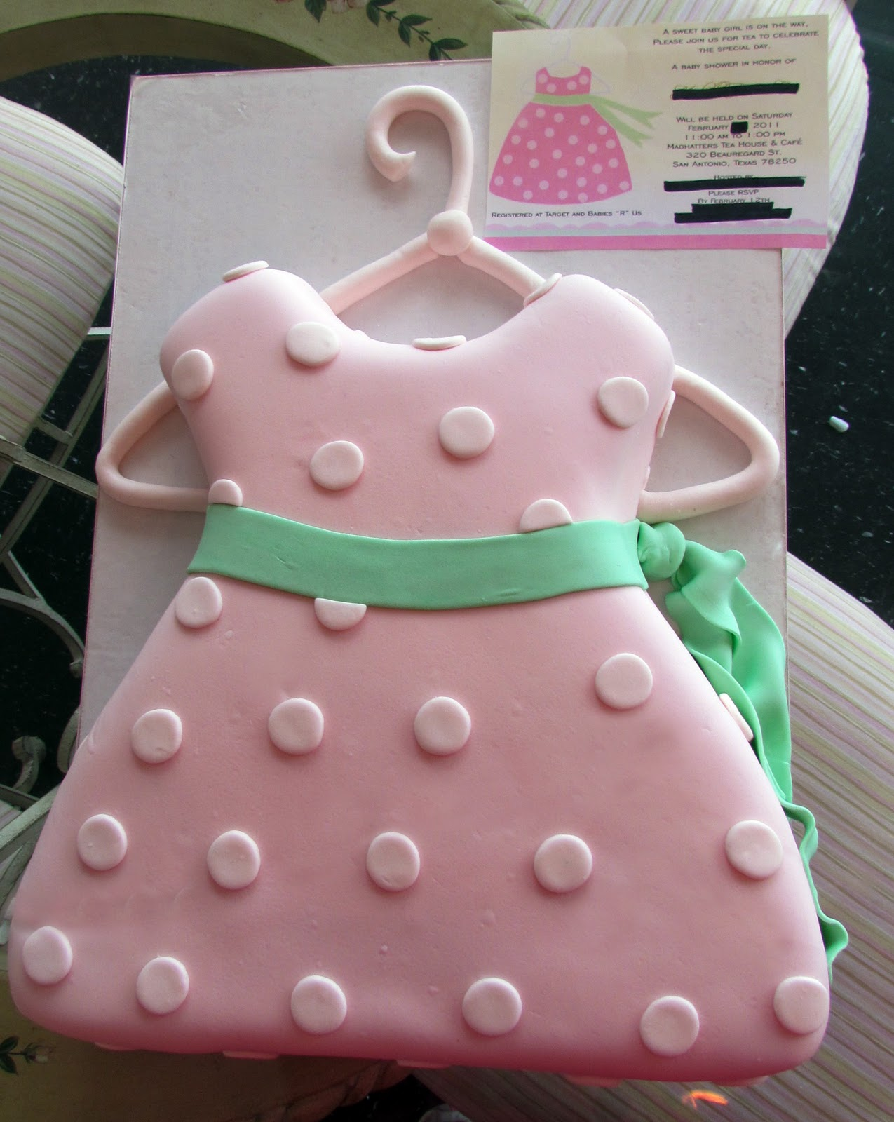 Alamo Sweets Llc Baby Dress Baby Shower Cake