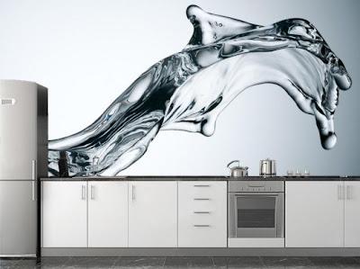 decoración con fotomural en la cocina