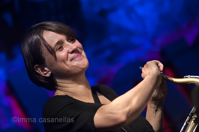 Ingrid Laubrock, Jamboree Jazz Club, Barcelona, 11-10-2015