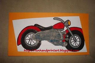 Footprint Motorcycle for Father's Day Keepsake