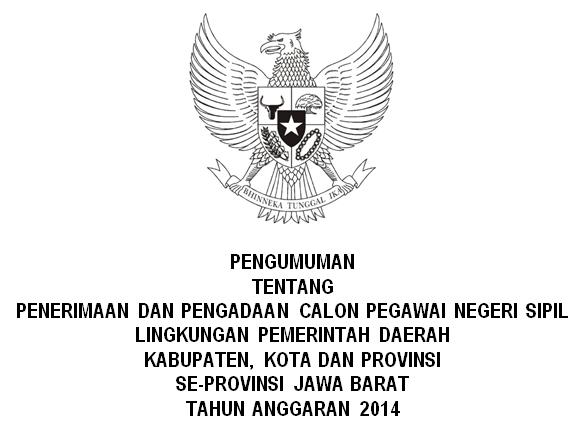 List Daftar Penerimaan CPNS Kabupaten Kota Seluruh Provinsi Jawa Barat