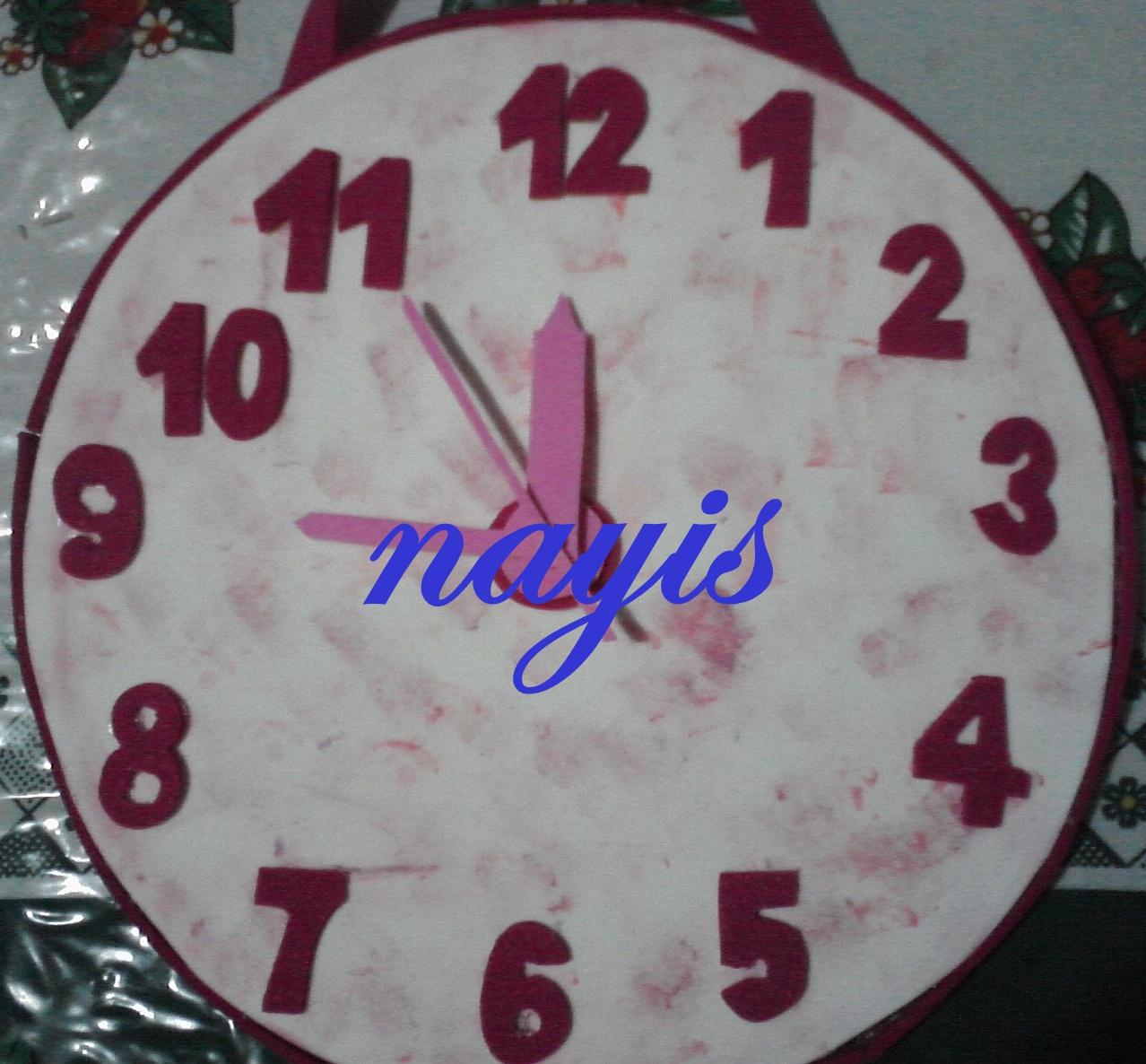 Kositas Nayis's: Reloj en foami