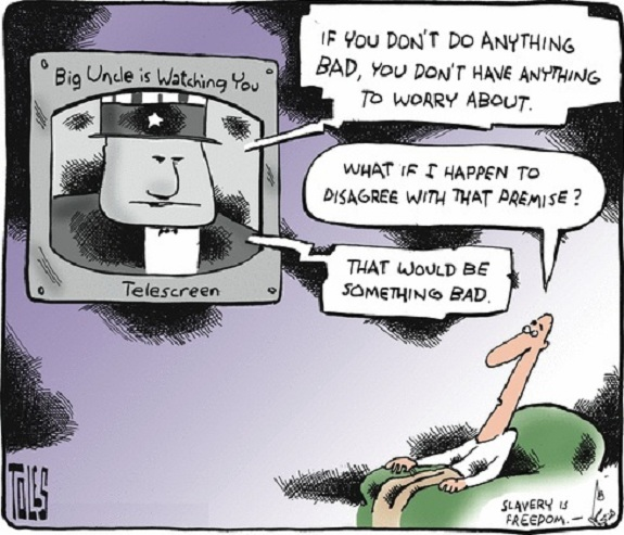 Tom Toles: Slavery is Freedom.