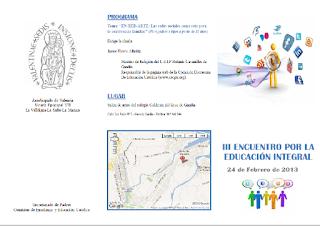Díptico III Jornada Educación Integral 2012 - 2013.