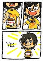 Jedzenie nutelli łyżeczką.
