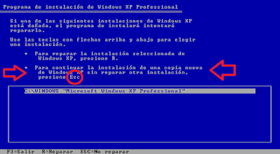 pasos para instalar windows xp