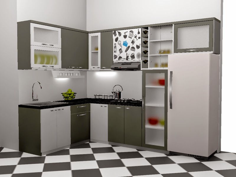 Kitchenette sets kitchen cabinet sets 50 inspired step 2 for Kitchen set hitam putih