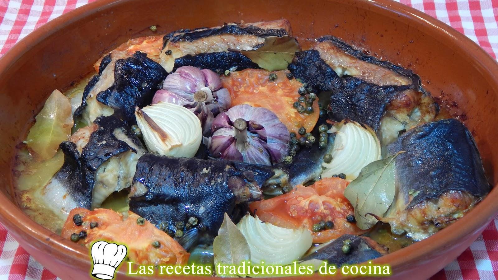 Anguila al horno