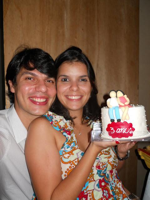 bolo para aniversário de 3 anos de namoro