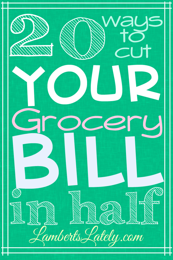 how to cut grocery bill