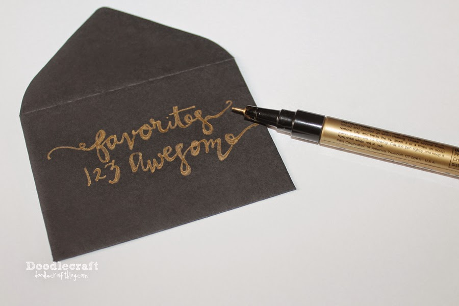 Doodlecraft how to fake script calligraphy create custom envelopes for christmas cards wedding invitations or just to say hi people love a handwritten card shows that solutioingenieria Image collections