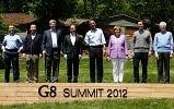 Russia - Dmitri Medvedev, Japan - Yoshihiko Noda, Canada - Stephen Harper, France - Francois Hollande, U.S. - Barack Obama, Germany - Angela Merkel, Britain - David Cameron, Italy - Mario Monti.